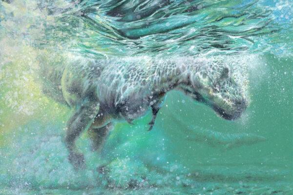 t rex underwater